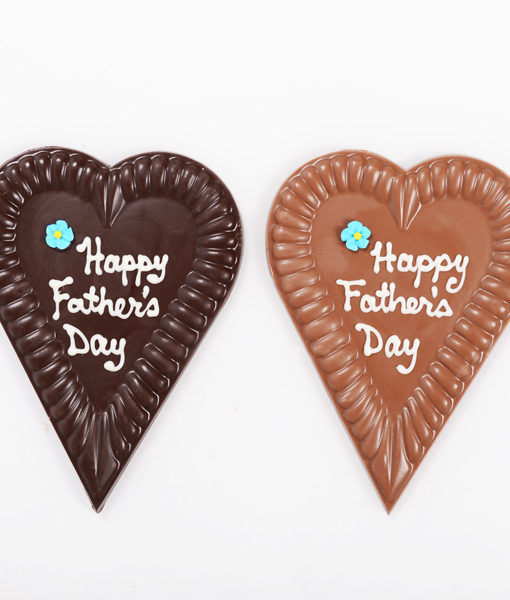 Happy Father's Day heart. Dark and milk.